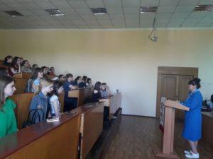 Виховний захід з нагоди  100-річчя товариства Червоного Хреста в Україні