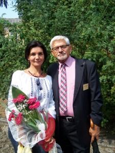 з польським поетом Казиміром Бурнатом
